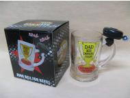 Beer glass with bell for Father Day
