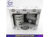 Football Mug & coaster gift set